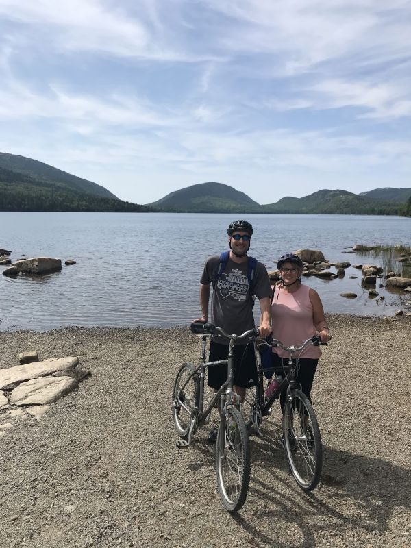Biking in Maine