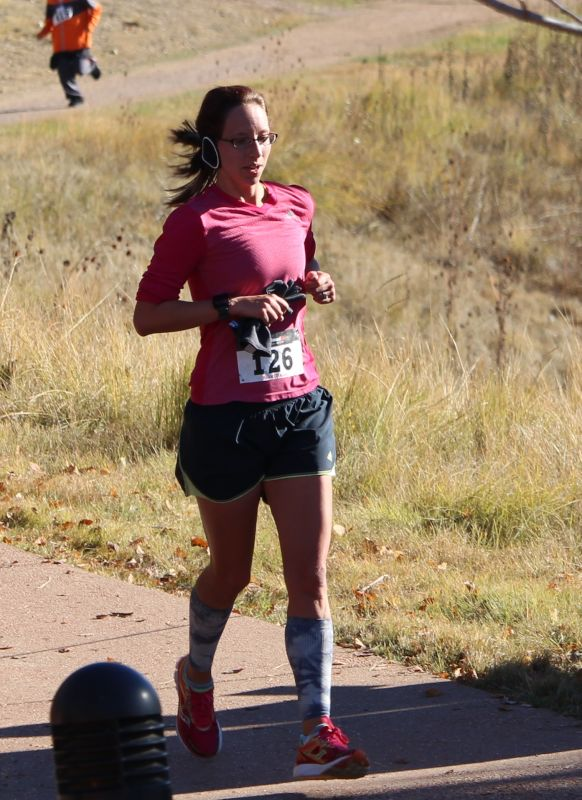 Kristin Finishing a Race in Colorado