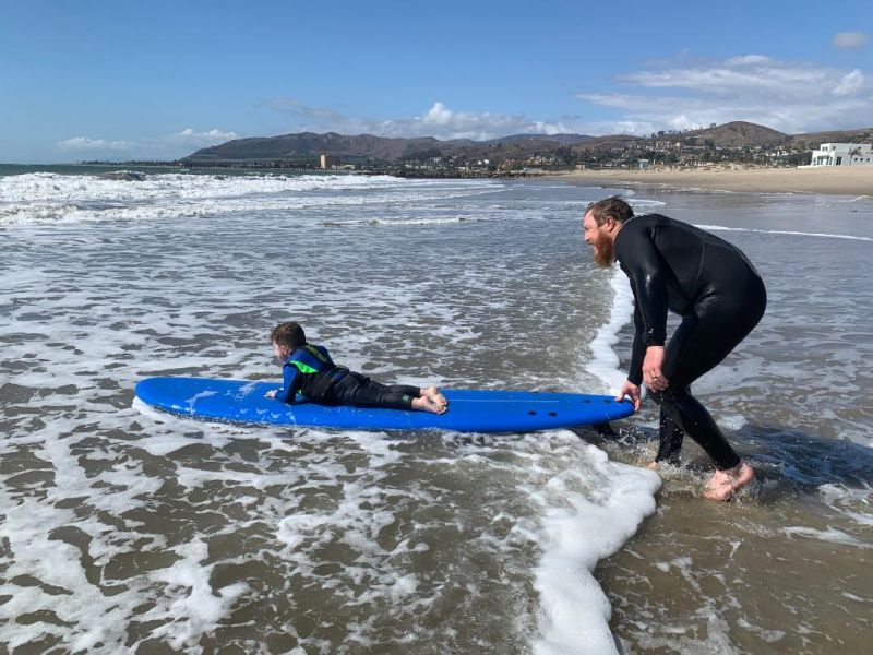 Stephen & Silas Enjoy Surfing Together