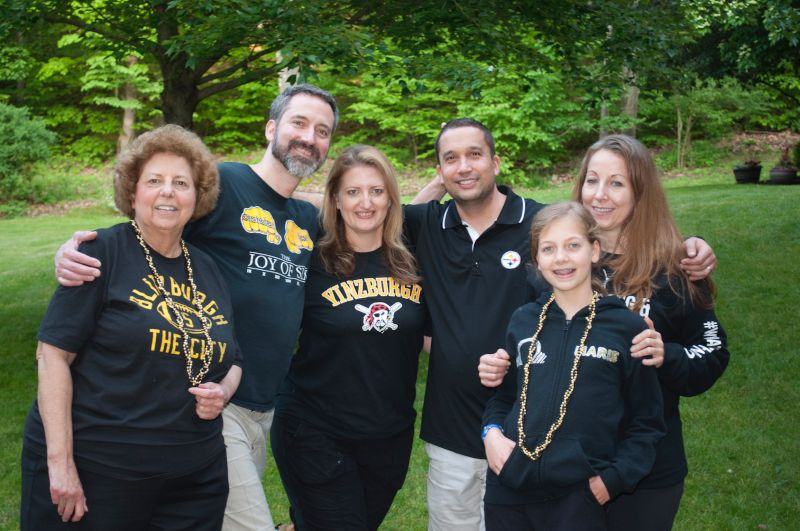 John's Family Showing Their Pittsburgh Pride