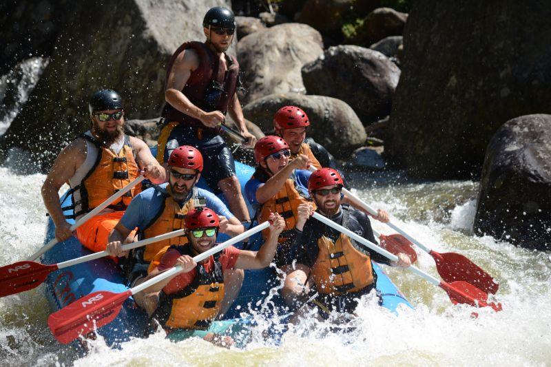 Whitewater Rafting With Friends