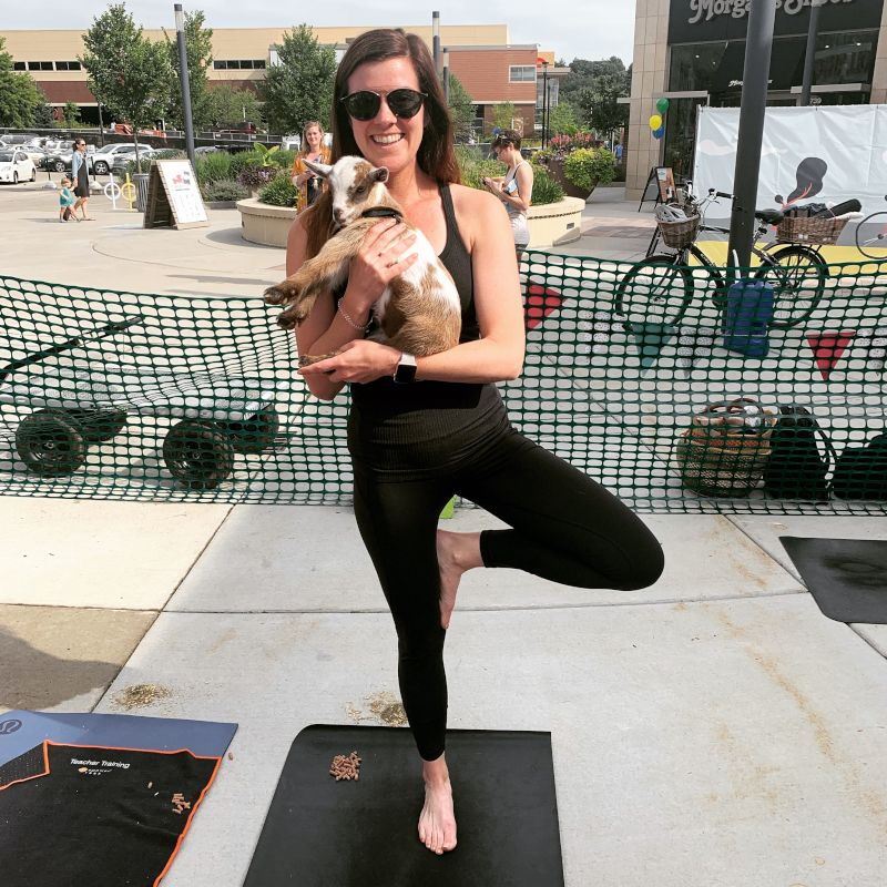 Katy at Goat Yoga
