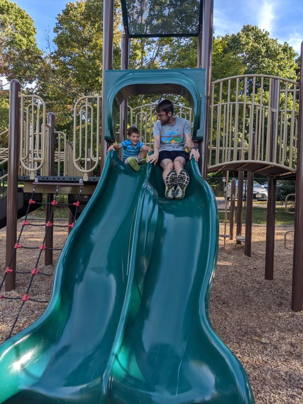 Chris & Gregory Enjoying the Playground