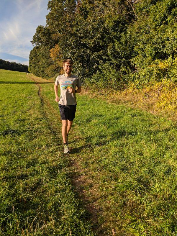 Chris Enjoying a Trail Run