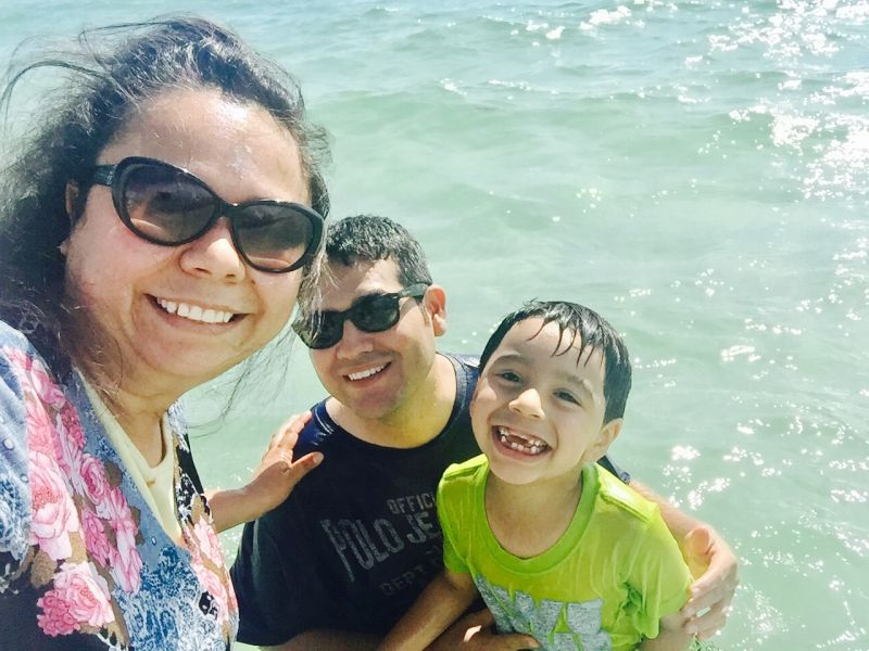 At the Beach With Our Nephew