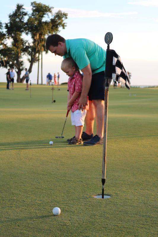 Teaching Gabe to Golf