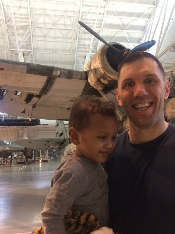 Matt & Josh Love Airplanes - The Smithsonian Air & Space Museum is a Favorite Spot