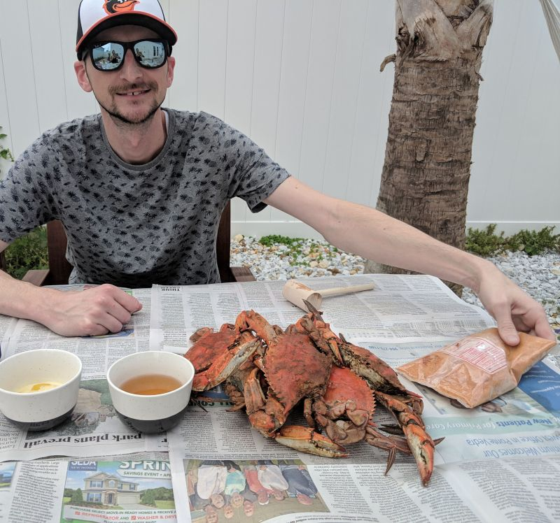 Crab Feast on Our Backyard