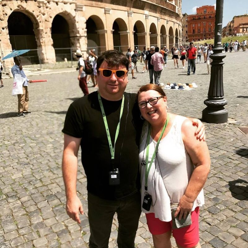Jon and His Mom in Italy
