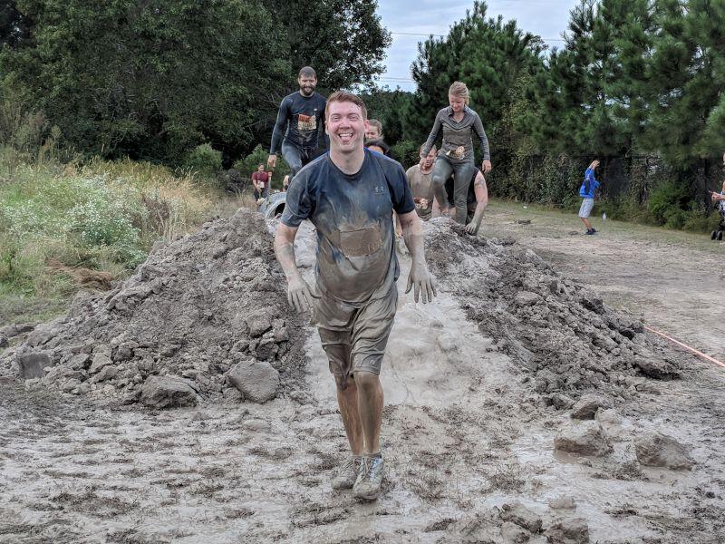 Andrew Finishing a Mud Run