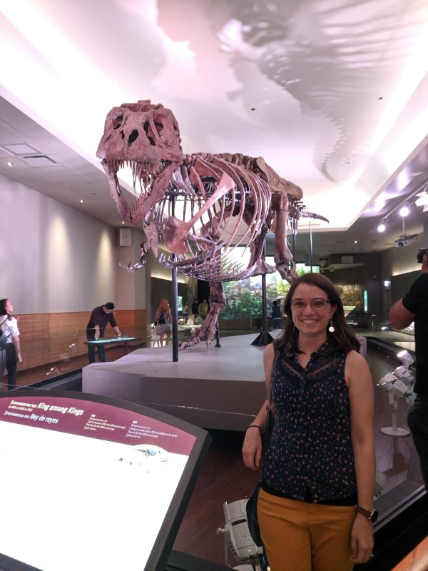 Rachael at the Field Museum in Chicago