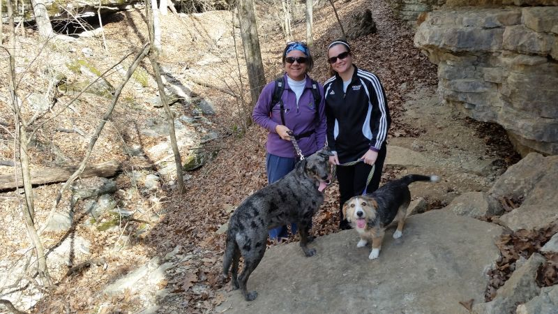 Abby & Her Mom Hiking With the Dogs