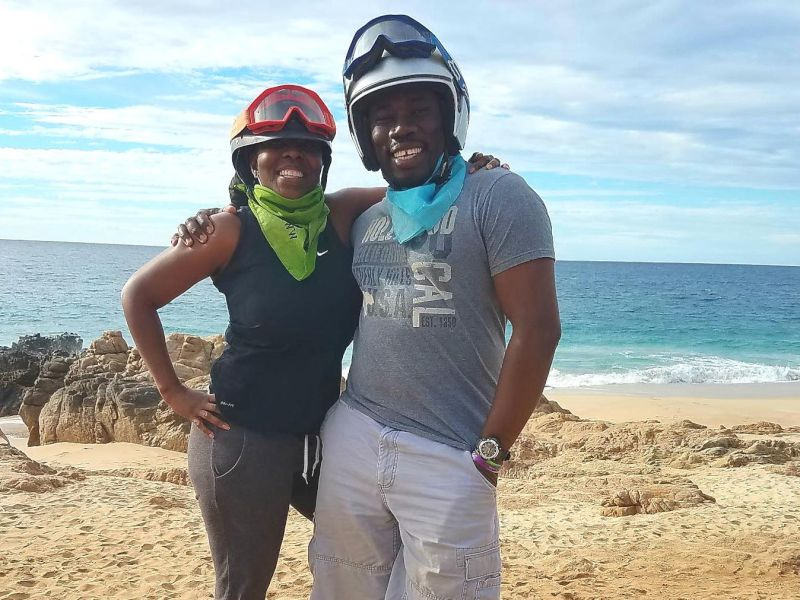 Riding ATVs in St. Lucia