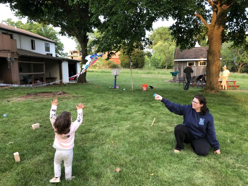 Aunt Karen & Olivia Flying a Kite