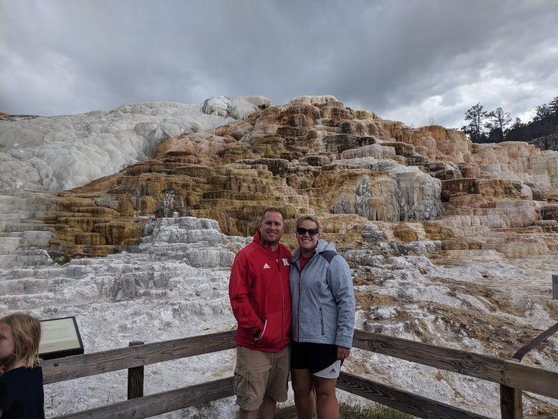 At Mammoth Hot Springs