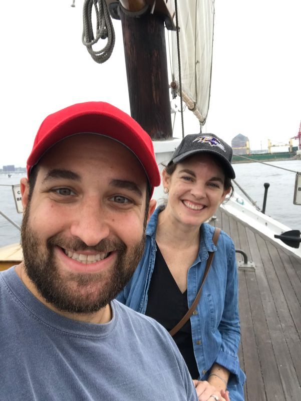 On a Sailboat