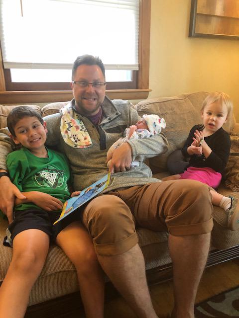 Luke With Our Nephews & Niece