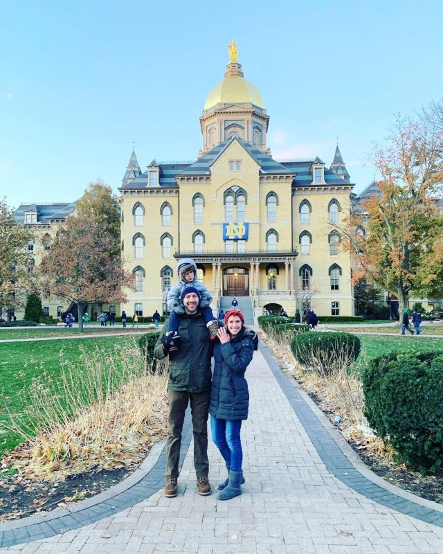 Sam's First Notre Dame Football Game