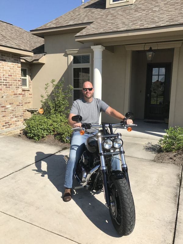 Chris Loves to Ride His Motorcycle