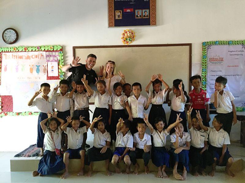 Volunteering at a School in Cambodia