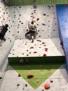 Lauren Rock Climbing