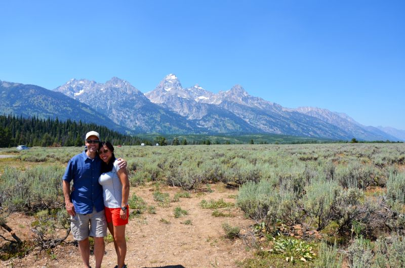 Taking in the Teton Mountains