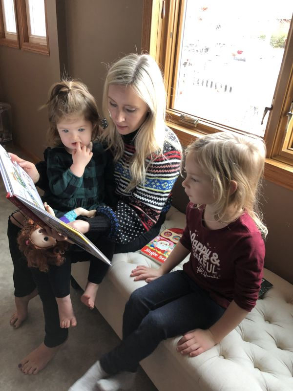 Reading with Layla & Our Niece