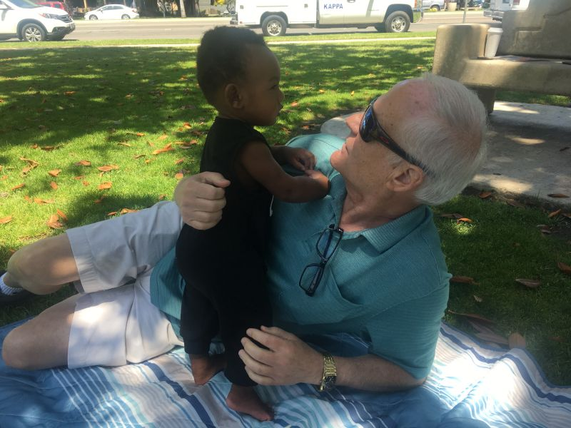 Playing in the Park With Pop Pop
