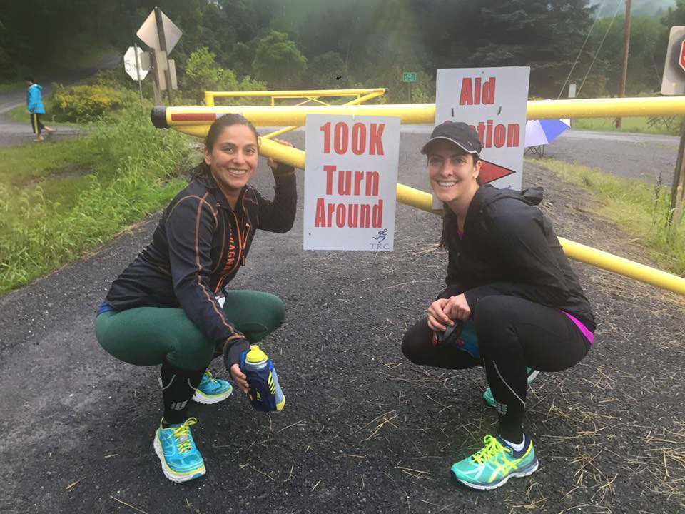 Jenn & a Friend Running a 100K Ultramarathon