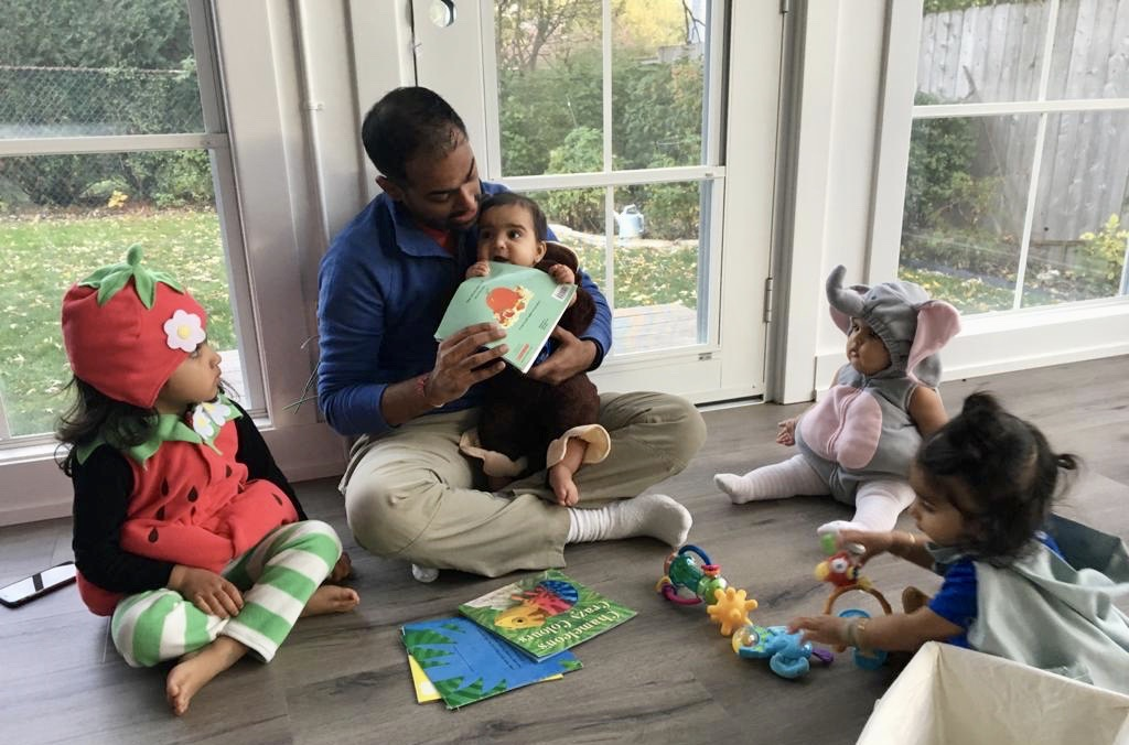 Reading Stories to Our Friends' Kids on Halloween