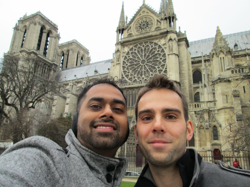 Stopping by Notre-Dame While Visiting PJ's Family in France