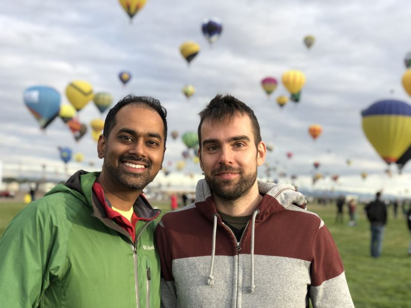 At the International Balloon Fiesta