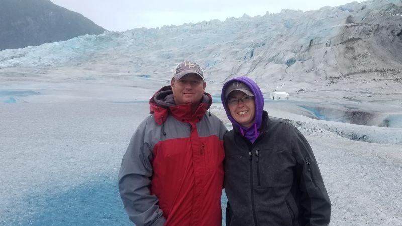 Exploring a Glacier in Alaska