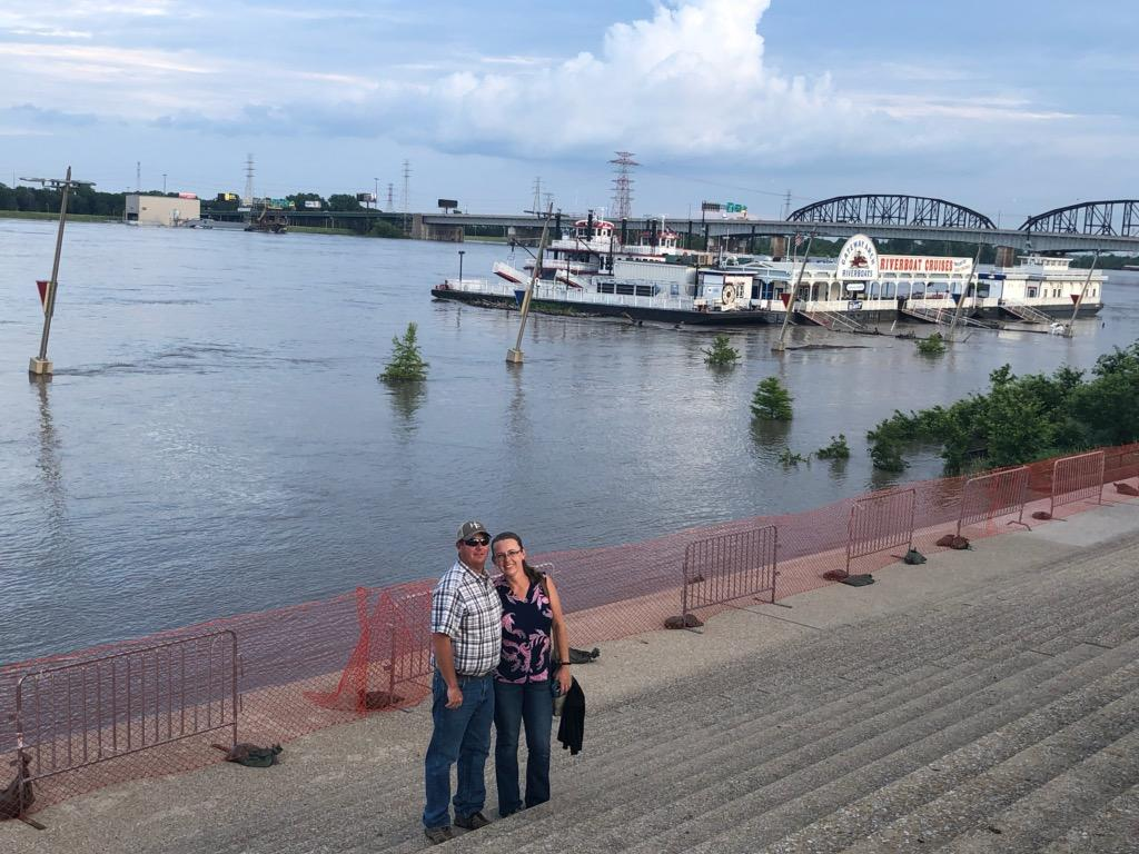 By the Mississippi River in St. Louis