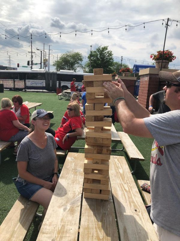 Playing Giant Jenga With Friends