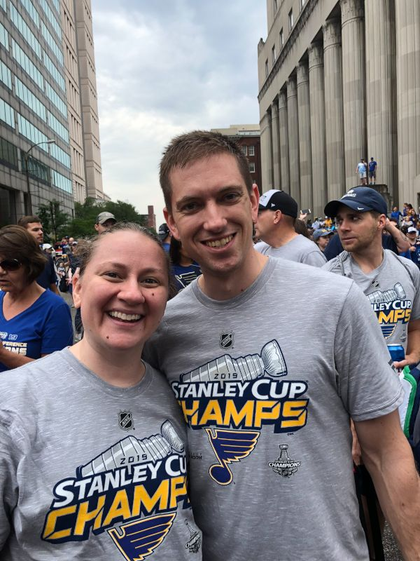 Watching the Blues Stanley Cup Parade