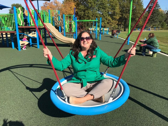 Megan helped plan this all-inclusive playground
