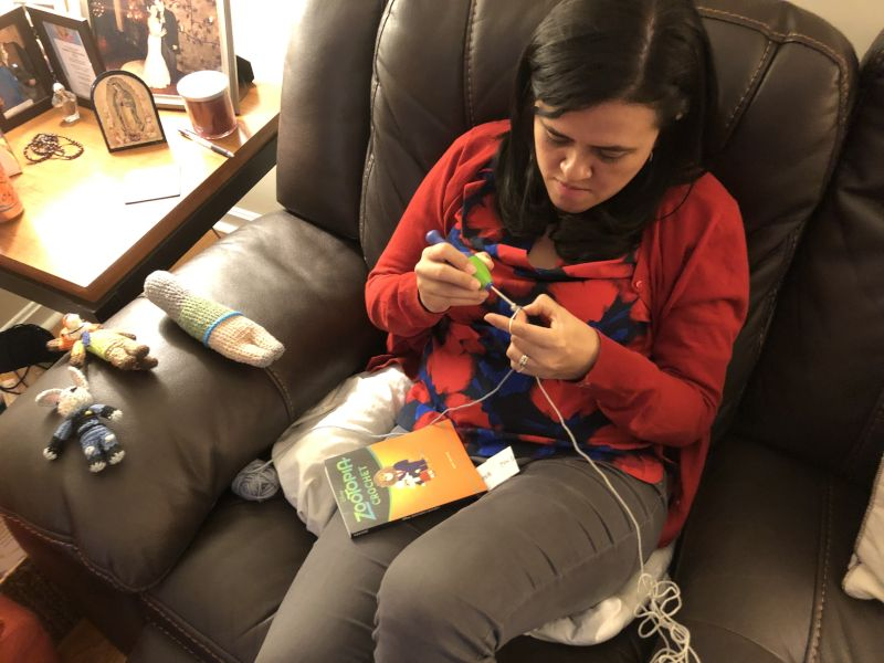 Maria Loves Doing Crochet and Crafts