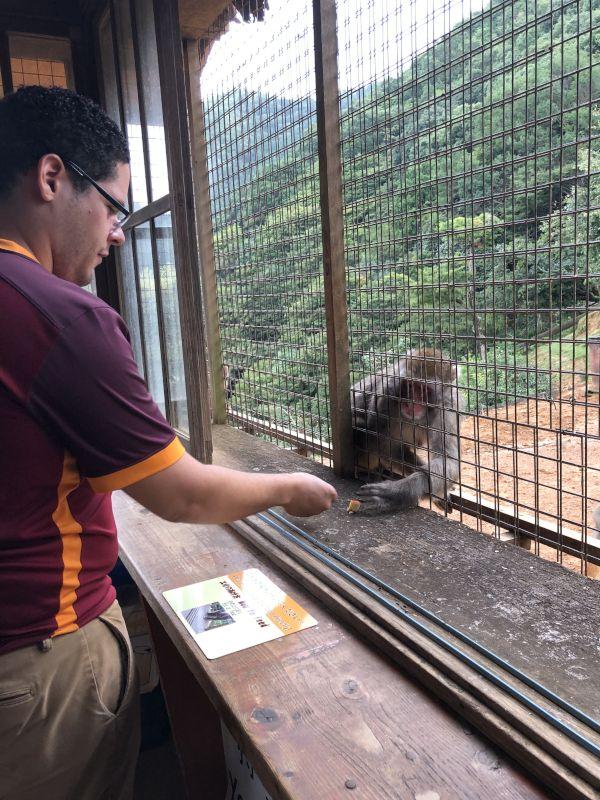 Carlos Feeding Monkeys in Kyoto