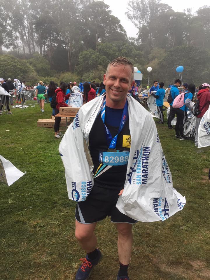 Finishing the San Francisco Marathon