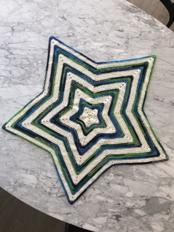 A Baby Blanket Crocheted by Jeffrey