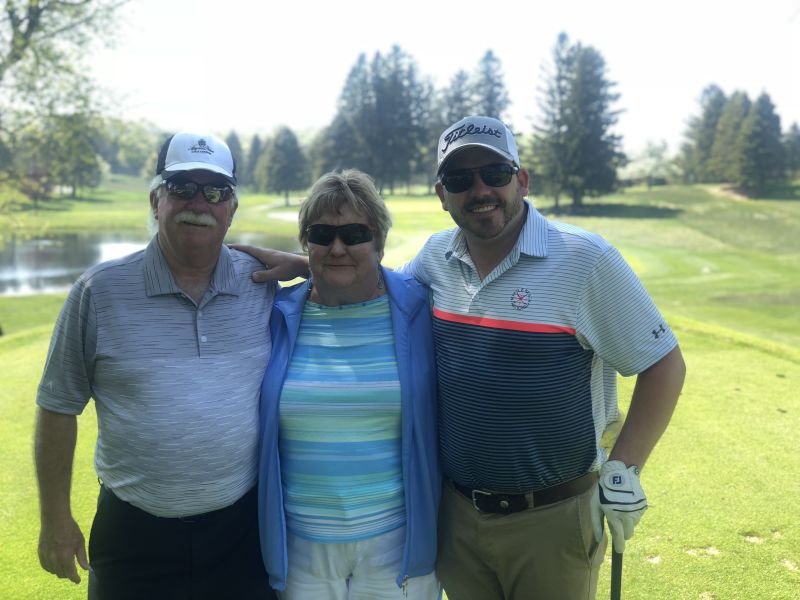 Jason Golfing with His Parents
