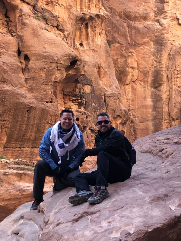 Hiking in Petra, Jordan