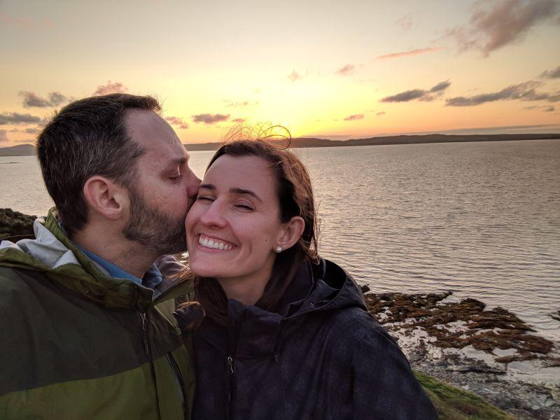 Sunset Kiss in Scotland