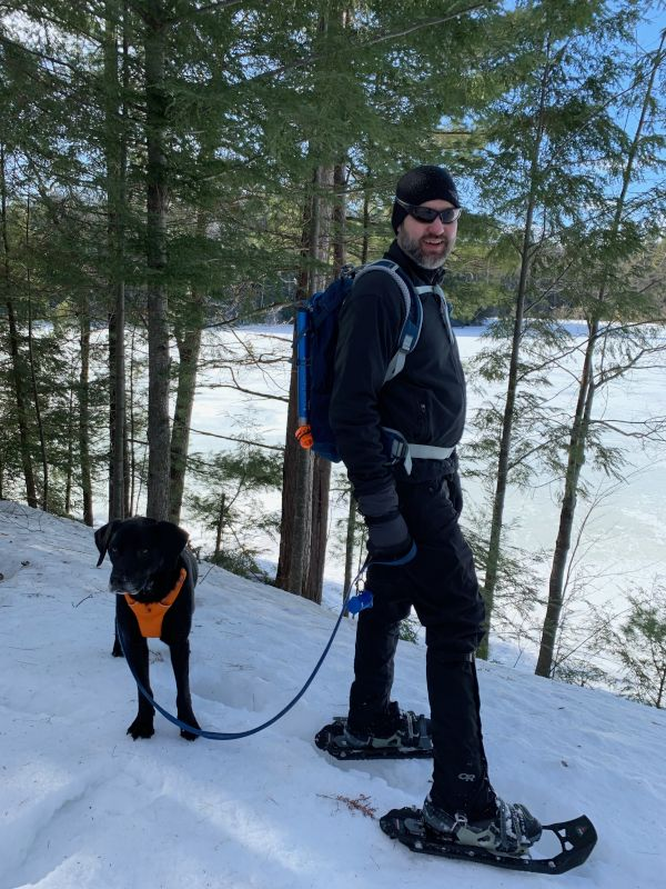 Snowshoeing at the Lake House