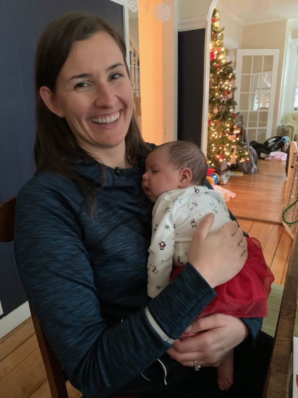 Karla With a Friend's New Daughter