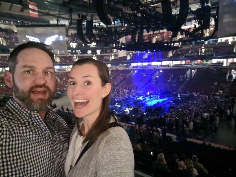 At a Mumford and Sons Concert