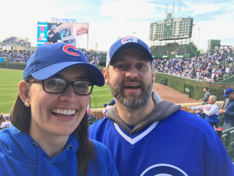 At Wrigley Field in Chicago