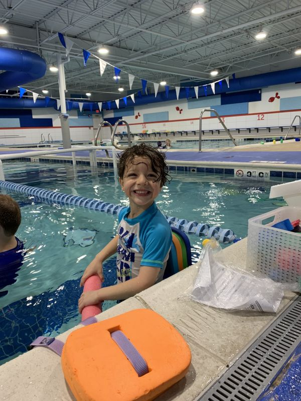 Augie Swimming