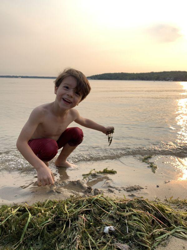 Augie on the Beach